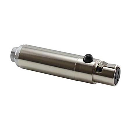 HIXMAN CA905 Convert Adapter for Sennheiser Lectrosonics Shure WisyCom Zaxcom 3-Pin Lemo to Sony 3.5mm Locking Plug Bodypack Transmitter