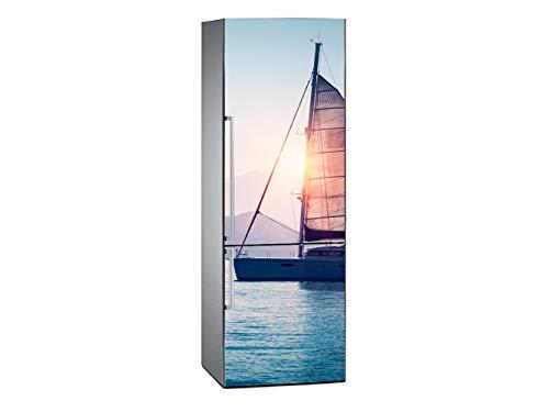 Oedim Vinilo para Frigorífico Atardecer sobre el Mar 185x70cm | Adhesivo Resistente y Económico | Pegatina Adhesiva Decorativa de Diseño Elegante