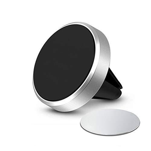 QY Soporte magnético para teléfono celular de coche, soporte de metal para ventilación de coche, universal, rotación de 360 grados, con una mano, para todos los teléfonos inteligentes