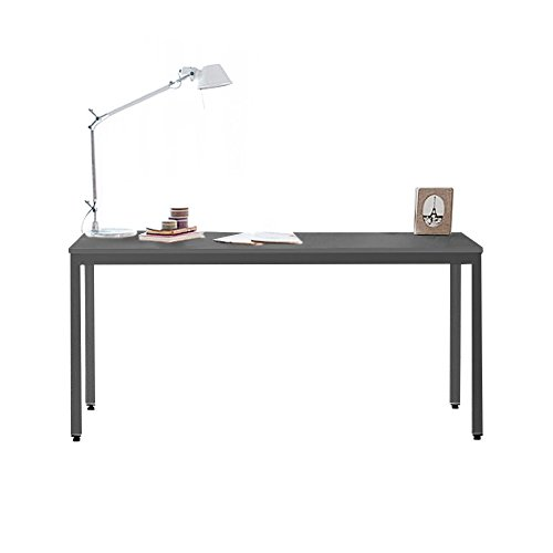 Need Computertisch großer Schreibtisch PC-Tisch Bürotisch Arbeitstisch Konferenztisch Esstisch Holz für Arbeitszimmer und Büro,138x55 cm,Schwarz...