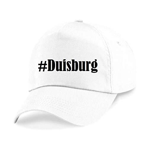 Reifen-Markt Base Cap Hashtag #Duisburg Größe Uni Farbe Weiss Druck Schwarz