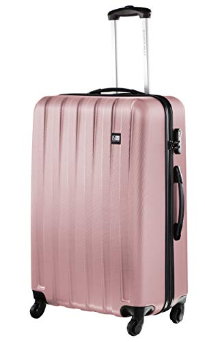 Nasher Miles Zurich 24 Inch ,Check-in, Hard-Sided, Polycarbonate Luggage, Old Rose 65cm Trolley Bag