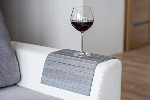 Bandeja de brazo de madera para sofá o sofá, con protectores de reposabrazos col 4.