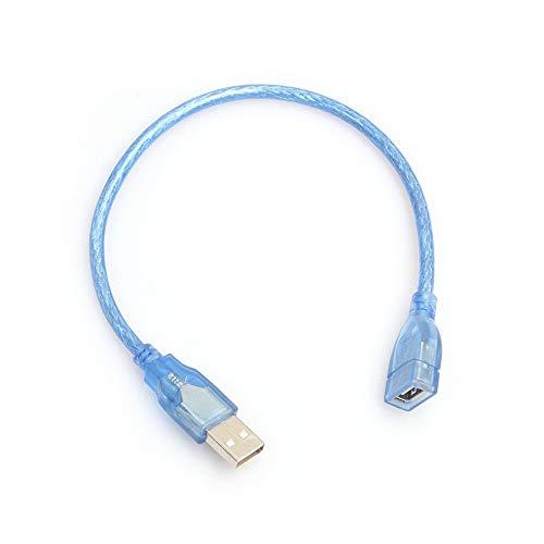 BlackUdragon 30CM High Speed USB 2.0 Verlengkabel Transparant Blauw Man Naar Vrouwelijk USB-verlengsnoer Koper Core USB Korte kabel