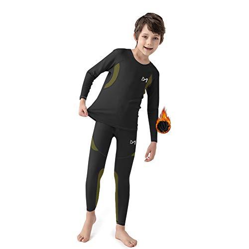 MEETYOO Ropa Interior Térmica Niño, Conjuntos Térmicos de Esquí Funcional Camiseta Térmicos Pantalón para Running Futbolístico Deportes de Invierno