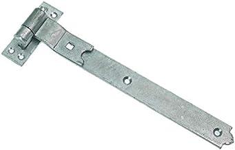 6 x CRANKED Haak & Band SHED Deurscharnieren GEGALVANISEERD 450mm x 50mm x 4.5mm