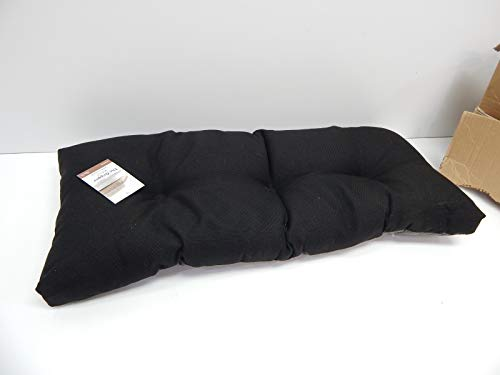 Klear Vu The Gripper Non-Slip Tufted Omega Universal Bench Cushion, Midnight, 36'