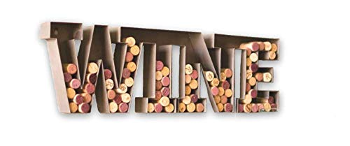 Kalalou Metal Letter Wine Cork Holder Wall Decor For the Wine Cork Collector - 25x7x2 inches