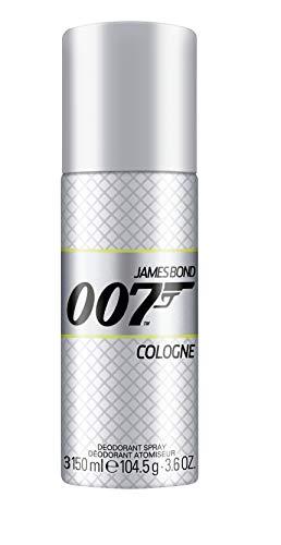 James Bond 007 Cologne Deospray – Ganztägiger Schutz vor Schweiß – Erfrischend-pflegender Duft für Herren – 1er Pack (1 x 150ml)