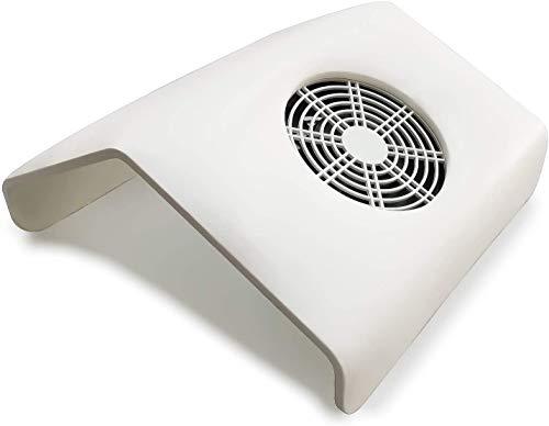 AZOREX Aspirador Uñas de Polvo Manicura Succión Colector de Polvo para Uñas Tamaño GRANDE de Mesa Manicura y Pedicura con Bolsos Colectivo 30x28x13 cm (Blanco)