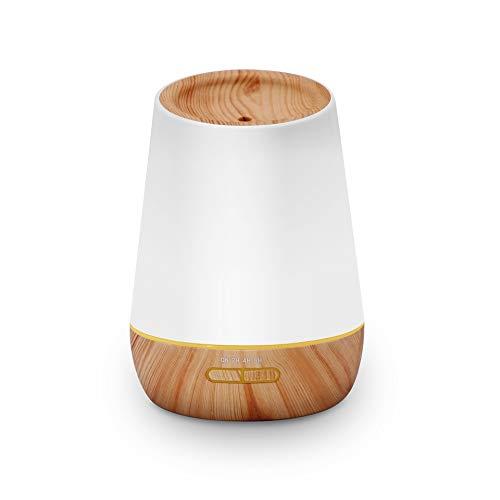 500 ml ätherisches Öl Diffusor Aromatherapie Aroma Diffusor Holzmaserung Luftbefeuchter, einstellbar kühlen Nebel, wasserlose automatische Abschaltung und 7 Farbe LED