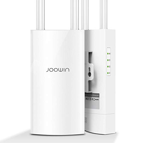 JOOWIN WiFi Access Point 1200Mbps AP High Power Outdoor Wireless Access Point with Ethernet Port & PoE Dual Band 867Mbps 5Ghz 300Mbps 2.4GHz, Outdoor WiFi Range Extender Repeater/Router/Bridge Mode