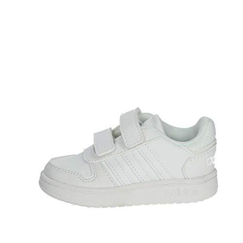 adidas Kinder Klettschuhe Hoops 2.0 CMF I F35899 000 weiß 666945