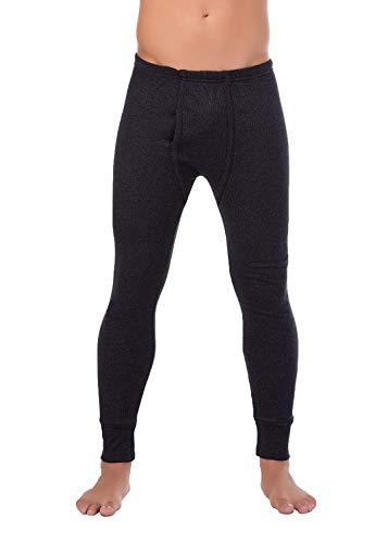 BestSale247 - Calzoncillos térmicos largos para hombre, ropa interior de esquí térmica, de algodón antracita XXXL