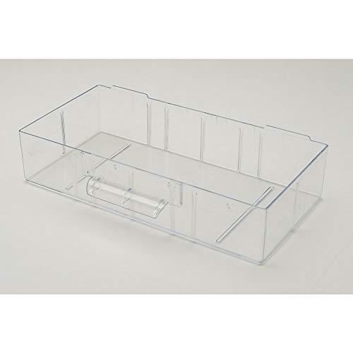 Kunststoff Ersatzschublade Gr. C, 280x140x59 mm, glasklar, für Kleinteilemagazin Metall