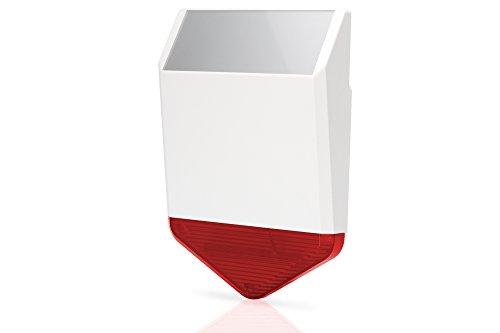 ednet Smart Alarm draadloos alarmsignaal voor buiten, geïntegreerde accu, 8 geluidsniveaus, 110 dB alarmsignaal