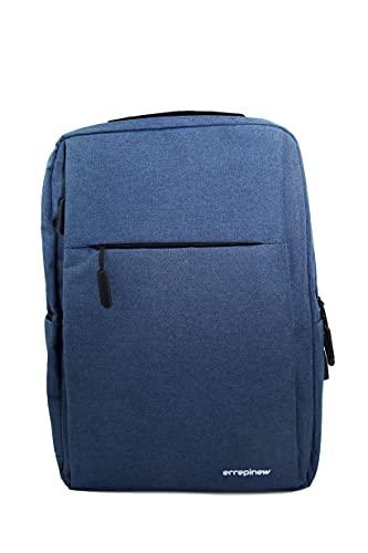 errepinew zaino laptop 15,6 pollici donna uomo portatile impermeabile colorato con usb libri ipad 4 scomparti per lavoro ufficio viaggio universita professionale aereo (blu)