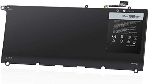 90V7W JD25G 9350 9343 Battery Compatible with Dell XPS 13 XPS13 13D XPS13D 13-9343 13-9350 13D-9343, JHXPY 5K9CP DIN02 090V7W 0DRRP RWT1R 0RWT1R 0N7T6, XPS13-9350-D1608 D1508G D1708[7.6V56Wh]