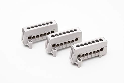 3 Stück A7-F2 Sammelklemme, Phasenklemme, fingersicher, grau, 7x 16mm²