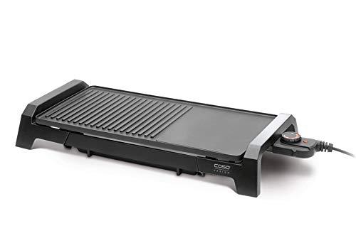 Caso 2830 BQ2200 LowFat Barbecue de table avec grill et surface de cuisson, puissance 2200 W