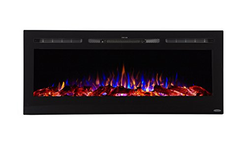 Touchstone 80004 - Sideline Electric Fireplace - 50 Inch Wide - in Wall Recessed - 5 Flame Settings...