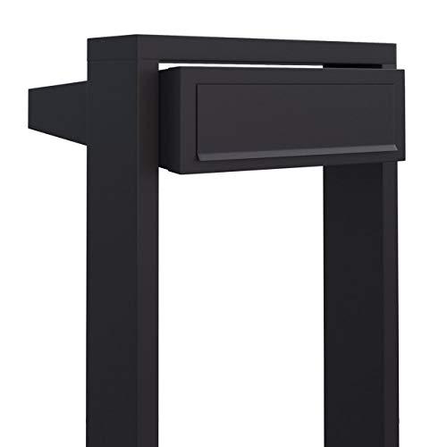 Staande brievenbus, design brievenbus Stairs zwart - Bravios