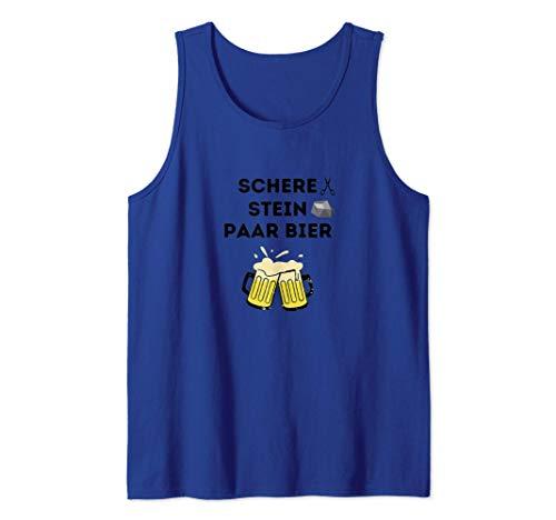 Schere, Stein, Paar Bier funny Bierspruch Geschenkidee Tank Top