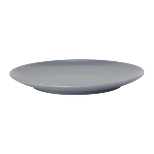 IKEA DINERA - Side plate, grey-blue - 20 cm