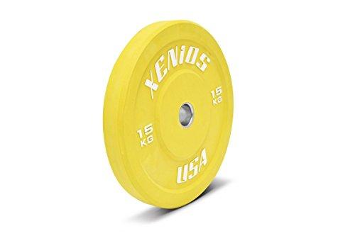 Xenios USA PSBPRBPL15 Disco Halterofilia - - Contest Bumper Plate