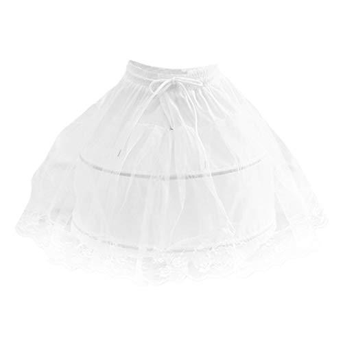 KESYOO Kinder Kleid Petticoat Kurze Krinoline Unterrock Kleid Slips Spitze Futter für Hochzeit Braut Prinzessin Cosplay Zubehör