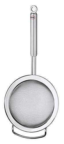 Rösle Rundgriff Küchensieb feinmaschig, Edelstahl 18/10, Ø 20 cm, seitlicher Griff, spülmaschinengeeignet