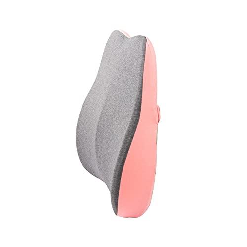 QSWL Almohada Lumbar, Cojín Espuma Viscoelástica, Soporte Lumbar para Silla Oficina, Asiento Auto, Cojín para Silla Ruedas, Respaldo Lumbar Coche (Color : Pink, Size : 45x40x10cm)