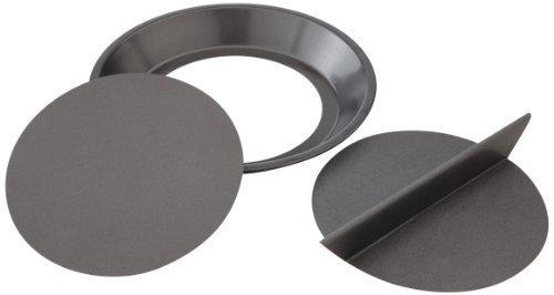 Chicago Metallic Moule à tarte à tarte métallique en aluminium métallisé 22,9 x 22,9 x 2,5 cm