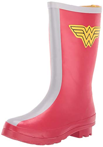 Western Chief Kids Girl's Youth Classic Tall Wonder Woman Rain Boot, red, 3 M US Little Kid