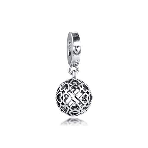 Jewelry Bracelet 925 Pandora Natural Harmonious Hearts Charms Sterling Silver Dangle Beads For Fits Original Necklace Charm Silver Diy Gifts For Women