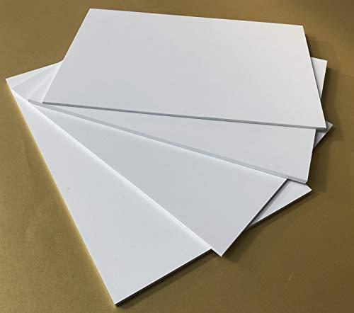 Pannello lastra Forex pvc bianco spessore 3/5 mm - leggero e resistente - varie misure - alta qualià (forex 5mm, 20x30)