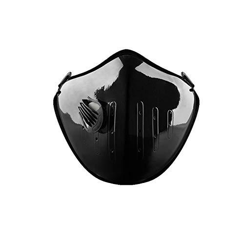 Stofdicht sportmasker: actieve koolmasker met ventielen en katoenen lakens met extra filter, voor sport, hardlopen, motorsport, fietsen. 0 blue