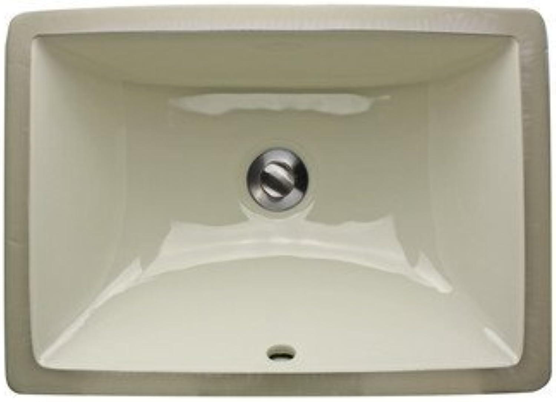 Nantucket Spülen um-16X 11-b 40,6cm x 27,9cm Rechteck Unterbau Keramik Waschtisch Badezimmer Waschbecken, Bisque von Nantucket Spülen
