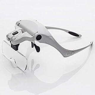 YASE-king Headband LED Magnifier 1x 1.5X 2X 2.5X 3.5X Head Eye Magnifying Glasses Soldering Repair Illuminated Magnifier L...