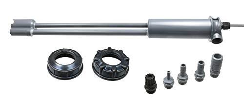 """GT Set PVC Sauglanze/Sauggarnitur mit Niveauschalter für 10-25 Liter Kanister mit Zwei EPDM Deckeln DIN51/DIN61 (im Lieferumfang) 3/8\"""" Gewindeanschluss mit 5 Adaptern Pool Chlor Redox"""