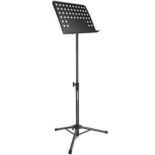 Neewer Soporte Musica Plegable de Partición con 63-109cm de Altura Ajustable y 180 Grados de Bbandeja de Inclinación,Duradero,Ligero y Portátil para Rendimiento Instrumental(Negro)