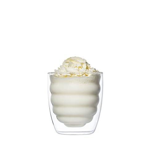 YEM, set di 6 bicchieri termici a doppia parete, da 300 ml, per latte macchiato, cocktail, dessert e the, ecologici