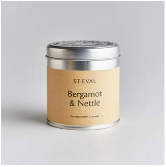 Tin Candle - Bergamot and Nettle by St Eval Candle