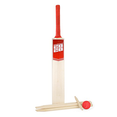 PowerPlay- Deluxe Cricket Set, Colore Rosso, Size 5 Bat, BG889
