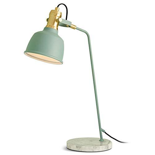 Nordic hot kleine tafellamp creatieve eenvoudige nachtslaapkamer bureaulamp kunst decoratie moderne luxe marmer leeslamp