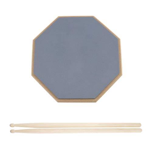 OTOTEC Praktisches Pad-Schlagzeug, leise, 8 Zoll, mit 2 Stäben