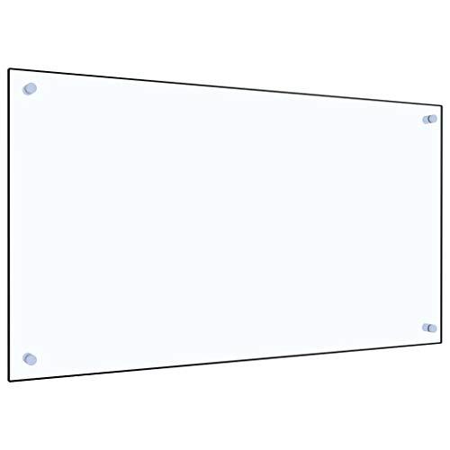 vidaXL Küchenrückwand Spritzschutz Fliesenspiegel Glasplatte Rückwand Herdspritzschutz Wandschutz Herd Küche Transparent 90x50cm Hartglas
