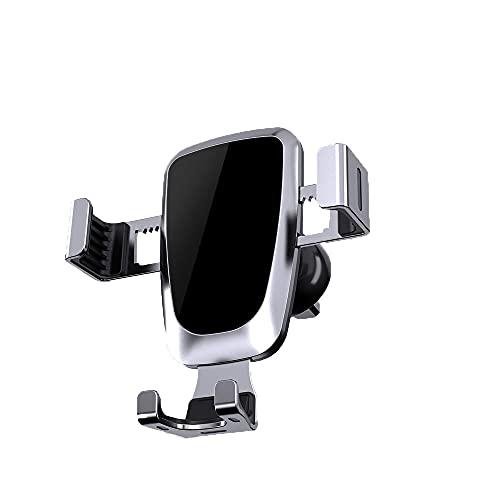 yijun Accesorios para coche Gravity Car Phone Holder Clip Clip Soporte para teléfono GPS (Color: Plata, Tamaño: M)