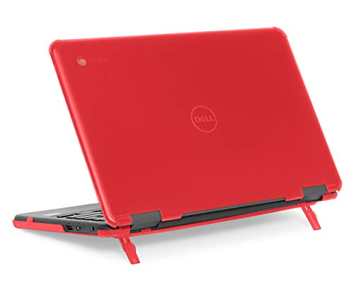 mCover Hard Shell Case for 11.6' Dell Chromebook 11 3100 Education non-2-in-1(180-degree Hinge) Laptop (NOT Compatible with 3181/3100 2in1, 210/3120/3180/3189/5190 Series) - Dell-C3100-non2in1 Red