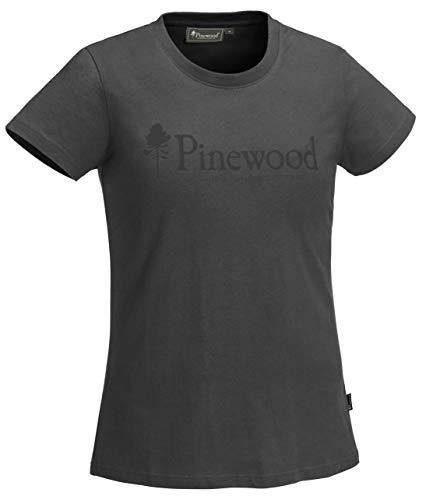 Pinewood T-Shirt d'extérieur pour Femme - Anthracite foncé - Taille M